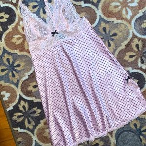 Victoria's Secret Lace Polka Dot Babydoll